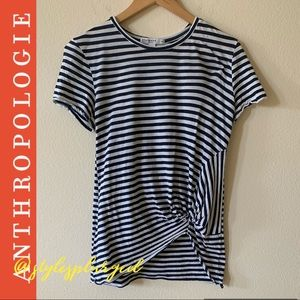 ANTHRO Stateside Striped twist tee size medium
